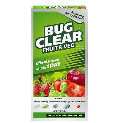Bug Clear Fruit & Veg 250ml Bottle Liquid Concentrate Insecticide Kills Insects