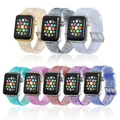 Sports Band Strap Glitter Bling Bracelet for Apple Watch iWatch Series 1/2/3/4