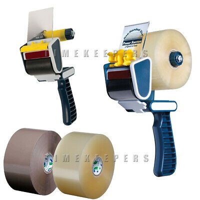 Umax Tape Gun Dispenser for Large 150m Brown Tape Parcel Packaging Rolls