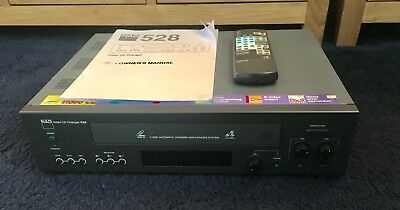 Nad 528 Video Cd Player 3 Disc Auto Changer & Karaoke System + Remote Working