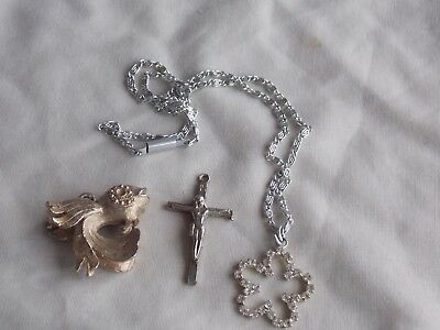 Vintage Mixed Lot Of 3 Pendants, One With Chain
