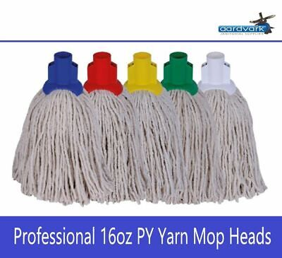 Aardvark Professional 16oz PY Yarn Mop Heads Red Blue Green Yellow