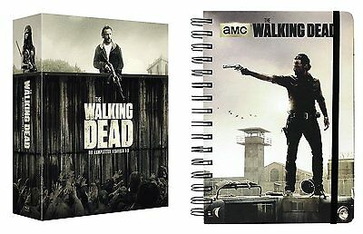 Complete Box Set the Walking Dead Complete 1 2 3 4 5 6 DVD Box + Notebook