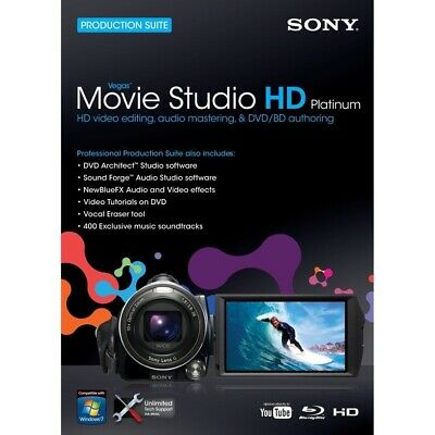 SONY MOVIE STUDIO HD 10 PLATINUM SUITE Video Editing Software PC Win 7/XP/Vista