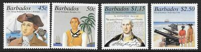 Barbados Sg1193/6 2001 George Washington's Visit To Barbardos Mnh