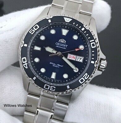 Orient Ray II Mens Automatic 200M Blue Dial Watch FAA02005D9 - Sale Price