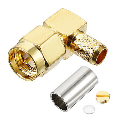 Gold Tone SMA Male to Silver Tone BNC Female Connector Adapter G3N7