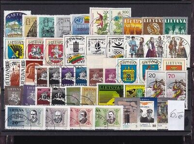 Lithuania  1991-1995  Very  Good  Used  45  stamps. Different . See scan.