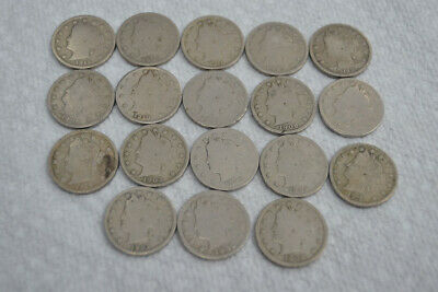 Lot of (17) Liberty Head V Nickel 5 Cent Coins - Free U.S. Shipping