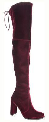 df6ef7d9c60 New in Box-  798 Stuart Weitzman Hiline Over-The-Knee Bordeaux Velvet Boot