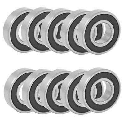 15 Inner Dia 32mm OD 9mm Thick Deep Groove Ball Bearings 6002RS 10pcs