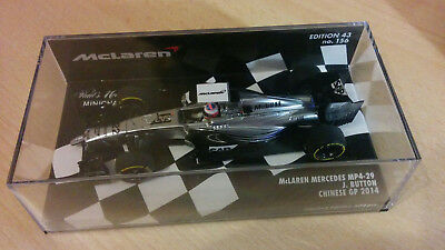 "Mclaren Mercedes MP4/29 Jenson Button "" Chinese GP "" 2014 1/43 TOP OVP"