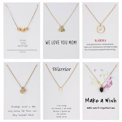 Fashion Women Gold Pearl Conch Birthstones Pendant Necklace Card Jewelry Gift