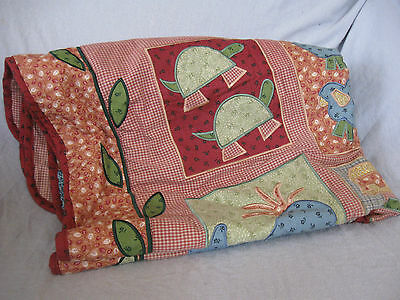 NOJO Crown Crafts Infant Quilt Animals 34x42