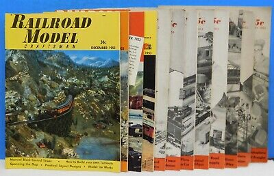 Railroad Model Craftsman Magazine Complete Year 1953  12 issues