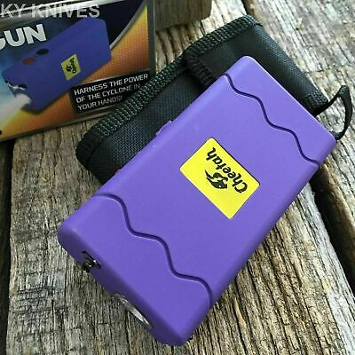 CHEETAH PURPLE 10 Million Volt Stun Gun Rechargeable w/LED light L-100PRP-WED