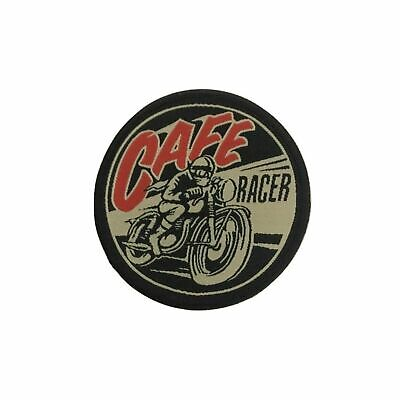 AJS British Motorcycle Cafe Racer Embroidered Iron On Sew On Patch bikera n-91
