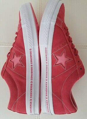 a9e132d20f3 Converse One Star Suede OX Paradise Pink Shoes Mens 9.5 Womens 11.5 159815C