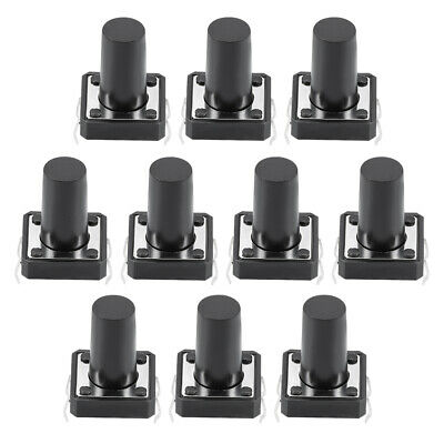 uxcell 12x12x12mm Panel Momentary 4-Pin PCB DIP Tactile Tact Push Button Switch 100PCS