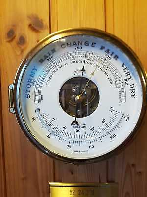 Schatz Barometer Thermometer  Messing voll funktionsfähig  TOP