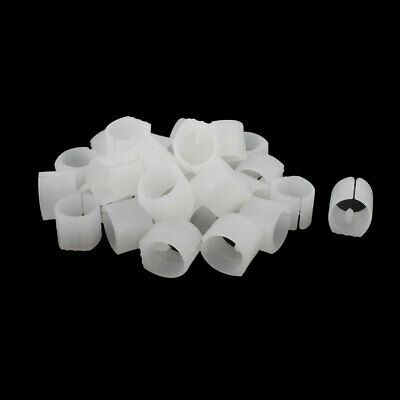 Chair Desk Tubing Foot Non-slip Plastic U-Shape Cap White 1 Inch Dia 30pcs