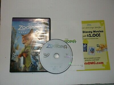 Walt Disney's: Zootopia (DVD, 2016) Judy Hoops, Nick Wilde, Bunny, Fox, Children
