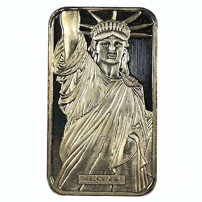 Rare Vintage JOHNSON MATTHEY 1oz .999 Fine Silver Bar - LIBERTY