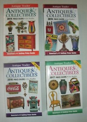 4 Antique Trader ANTIQUES & COLLECTIBLES PRICE GUIDE *2014 2015 2016 2017 unused