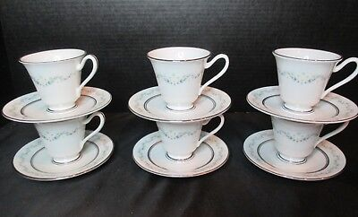 Holyoke Bone China By Oxford Div Of Lenox White Daisies 6 Demitasse Cup & Saucer