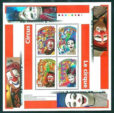 Canada Stamp #1760b - The Circus (1998) 4 x 45¢ NMH mint