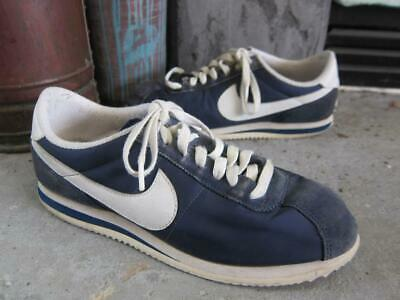 timeless design 1bd9b 27739 NIKE CORTEZ MENS blue suede tennis sneakers 9.5 43 classic low profile white