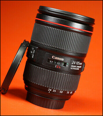 Canon EF 24-105mm MK II F4L IS USM  L Lens  Sold With Front & Rear Caps