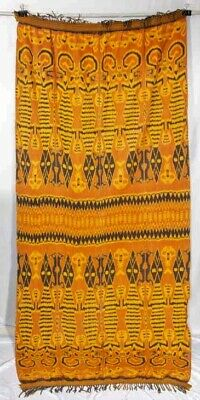 Antique Early 20Thc Sumba Ikat Indonesian Panel Vintage Wrap Throw Wall Hanging