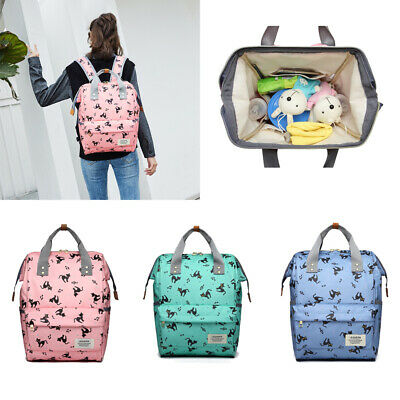 LEQUEEN Waterproof Mummy Bag Backpack Baby Diaper Nappy Bottle Holder Changing