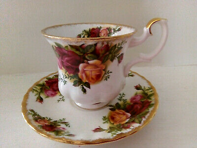 Vintage Royal Albert 'Old Country Roses' Small Coffee Cup and Saucer 1st 1962-73
