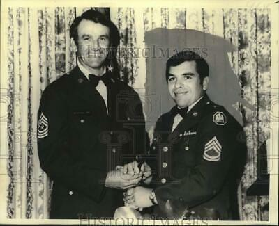 1975 Press Photo President of Louisiana National Guard Enlisted Association
