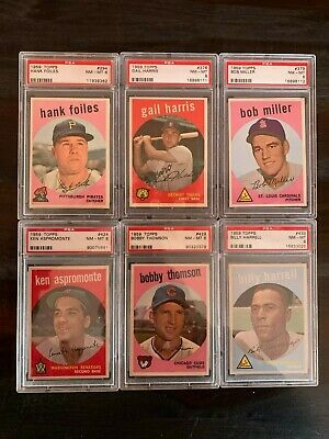 1959 Topps Baseball Psa 8 Nm-Mt -- Pick Any Card(S) From The List -- Free Ship