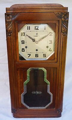 VEDETTE Westminster Wall Clock 8 Hammers 8 Gongs French Art Deco