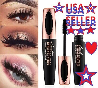 4D Silk FIBER MASCARA SECRET XPRESS CONTROL BLACK  WATERPROOF SEEN ON F.B *USA*