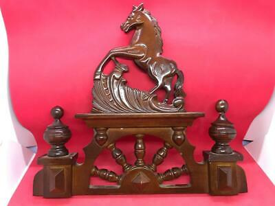Vintage Wooden Clock Topper & Finial's #2