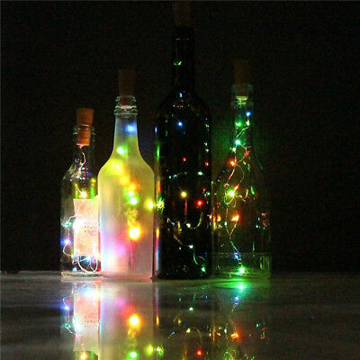 Wine Bottle Cork Lights Copper Wire String Lights for Wedding Party Decors  A