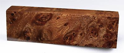 Stunning Figure, Dark Brown Nargusta Burl Knife Block, Reel Seat Blank NAR1015