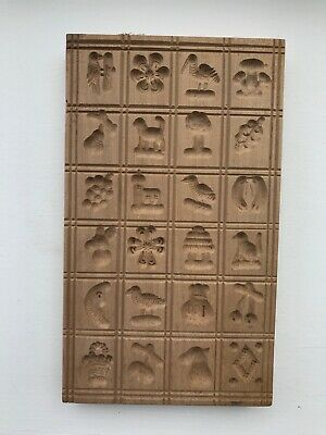 RARE VTG German Springerle Cookie Mold 24 Different Designs Gingerbread Butter