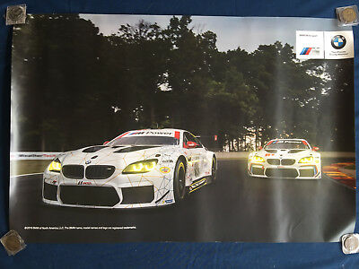 Bmw M6 Gtlm Official Dealer Showroom Advertising Racing Poster 2016