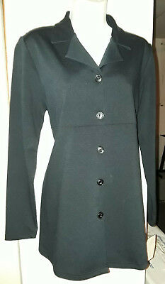 NWT Women's Maternity Black Long Career Blazer Jacket In Due Time NEW S SM Small