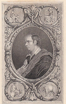 1821 Three Antique Portraits- Oliver Goldsmith- Irish Novelist, Poet, Playwright