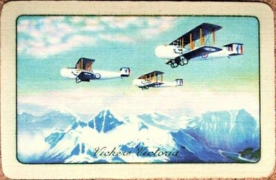 Plane- Aircraft -Vickers Victoria -Single Vintage Swap Playing Card