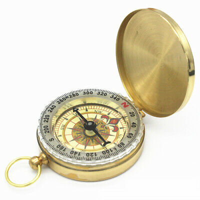 Pocket Watch Style Outdoor Camping Hiking Navigation Noctilucent Compass