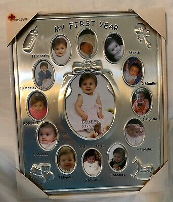 Lawrence Frames Silver My First Year Picture Frame