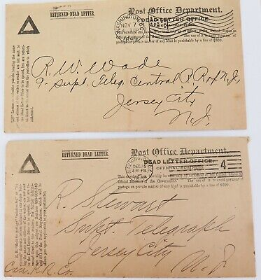 .1894 & 1895 Us Post Office Department, Dead Letter Office Covers.